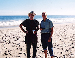 Roger Welch with Dennis Oppenheim, 2001, Easthampton, NY