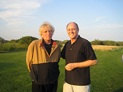 Roger Welch with Dennis Oppenheim, Sagaponack NY, 2009