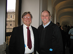 Roger Welch with Robert Whitman, Madrid, Spain, 2007