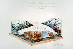 Roger Welch, The metropolitan museum and the Saskatchewan glacier, 2003